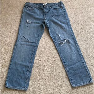 Ann Taylor Loft loose fit slightly distressed jean
